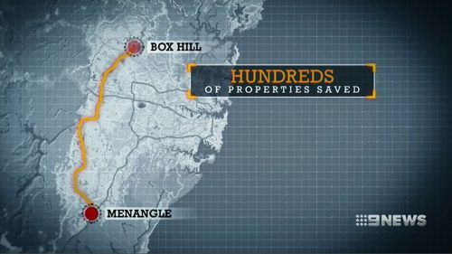The NSW Government has backed down from controversial motorway plans and spared more than 1000 properties. Picture: 9NEWS.