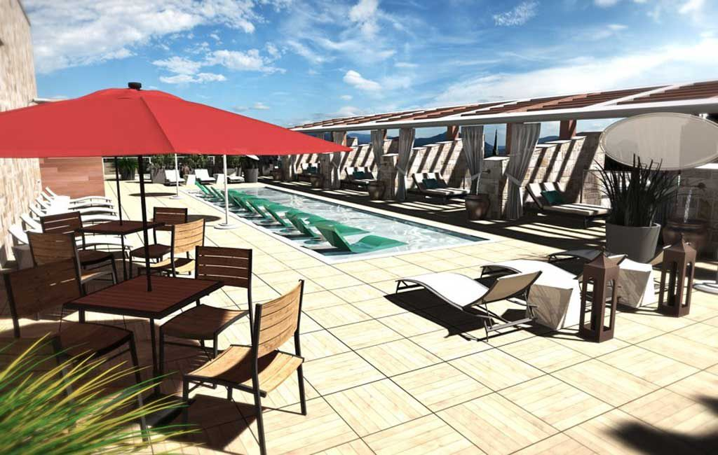 Archer Hotel Napa Valley rooftop pool