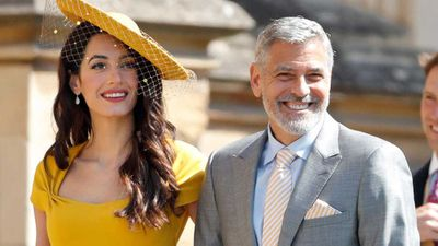 George Clooney serves guests tequila at royal wedding