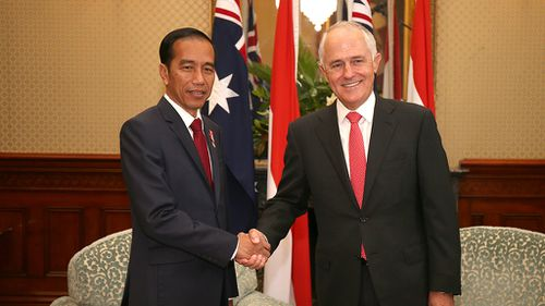 Indonesian President Joko Widodo and Prime Minister Malcolm Turnbull. (AAP)
