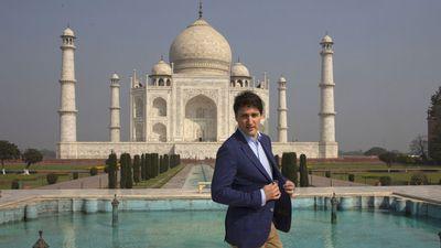 "Justin Trudeau at the Taj Mahal, February 2018<span style=""white-space:pre;""></span>"