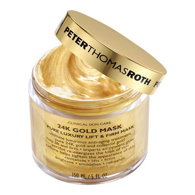 "<a href=""http://www.sephora.com.au/products/peter-thomas-roth-24k-gold-mask-150ml"" target=""_blank"">Peter Thomas Roth 24K Gold Mask, $180.</a>"
