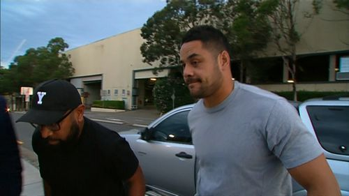 NRL star Jarryd Hayne has appeared at Castle Hill Police Station for his first bail appearance since being charged with aggravated sexual assault.