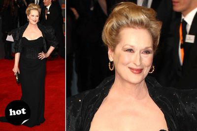 Meryl keeps it classy and age-appropriate.
