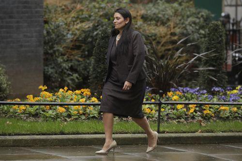 British Lawmaker Priti Patel, the Home Secretary arrives at 10 Downing Street in London (Photo: February 13, 2020)