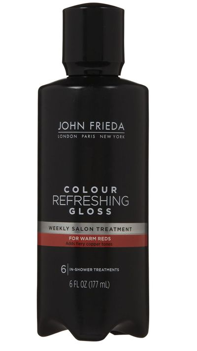 "<p><a href=""http://www.johnfrieda.com.au/Home/"" target=""_blank"">Colour Refreshing Gloss, $16.99, John Frieda (available in six shades -&nbsp; Warm Reds, Cool Reds, Warm Brunettes, Cool Brunettes, Warm Blondes and All Blacks.)</a></p>"