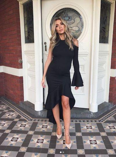 Nadia Bartel, wearing By Johnny, in Melbourne, September, 2018
