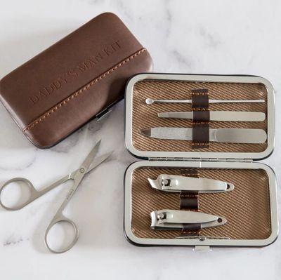 """<a href=""""https://www.hardtofind.com.au/152928_daddys-man-kit-manicure-set"""" target=""""_blank"""" draggable=""""false"""">Ginger Rose Daddy's Man Kit, $95.</a>"""