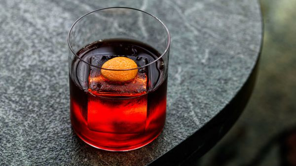 The premium negroni at a'Mare, Crown Towers Sydney