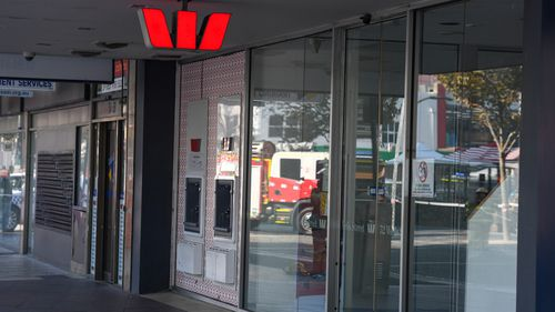 The man allegedly entered the Wells Street bank around 10.30am and was arrested on nearby Young Street. Picture: AAP.