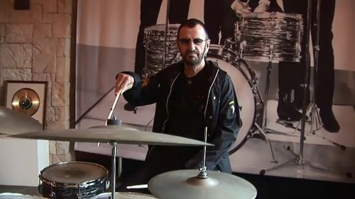 Ringo's Ludwig Oyster drum kit is expected to fetch millions. (9NEWS)