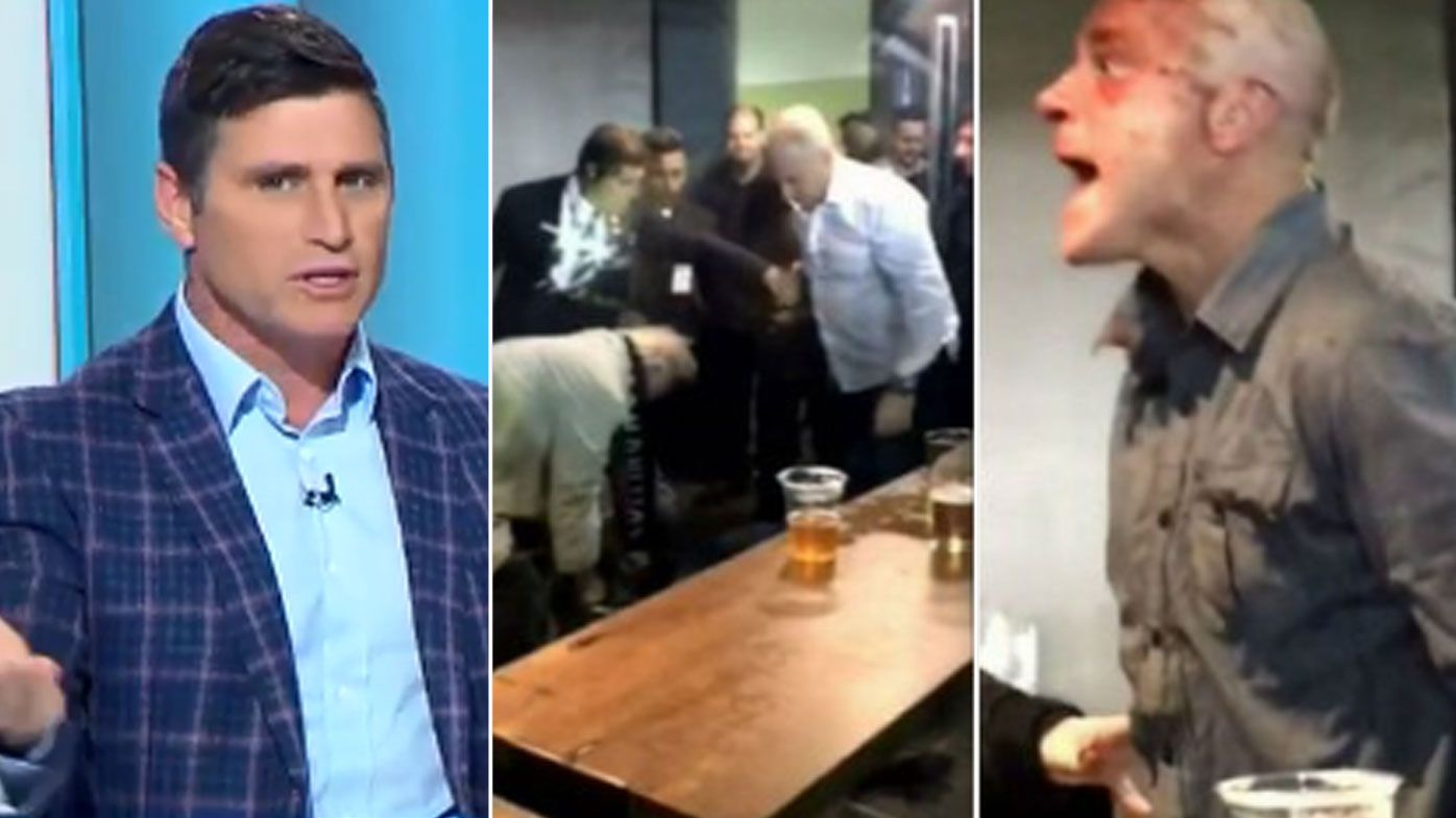Shane Crawford calls on AFL to give lifetime bans to those involved in Etihad Stadium brawl