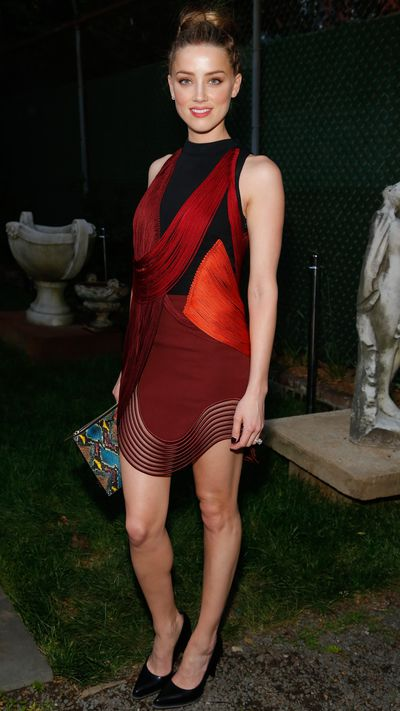 <p>At Stella McCartney's Spring 2015 presentation in New York, wearing the label.</p>