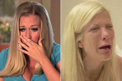 Tori Spelling and Kendra Wilkinson reached desperate new lows on their respective reality shows <i>True Tori</i> and <i>Kendra On Top</i>, which were both all about their philandering husbands.<br/><br/>And Kendra only just had a baby when her man Hank Baskett allegedly cheated with a transsexual YouTube model. Yep, therapy via reality TV is always the answer...