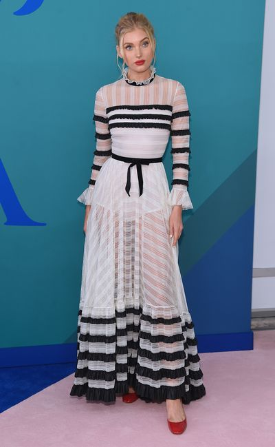 Elsa Hosk in Alberta Ferretti at the 2017 CFDA Awards.