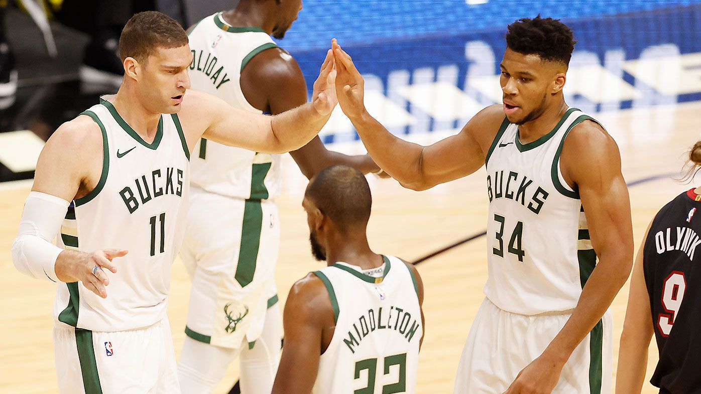 Milwaukee Bucks set NBA three-point record in monster win over Miami Heat
