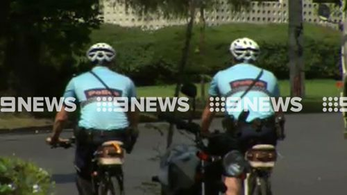 The police officer (not pictured) is not believed to have suffered serious injuries. (9NEWS)
