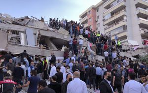 IN PICTURES: Buildings topple in Turkey after magnitude-7 earthquake