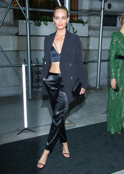 Model Amber Valletta at the Harper's Bazaar Icons party in New York, September, 2018