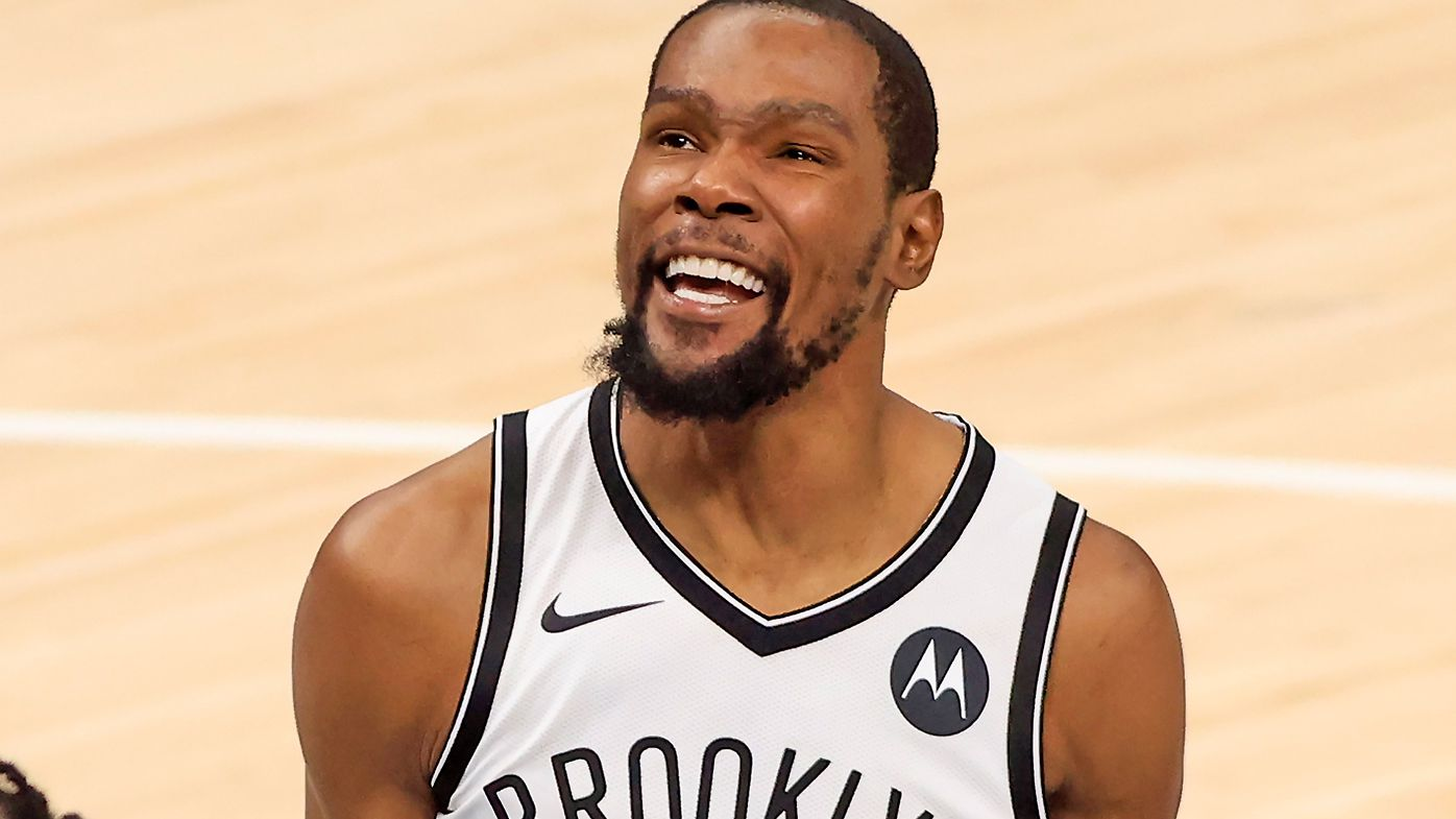 Kevin Durant plays for the Brooklyn Nets