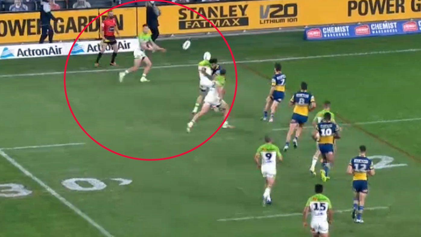 'Obvious' forward pass mars spectacular Raiders try against Parramatta