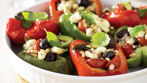 Tomato and olive roast capsicum