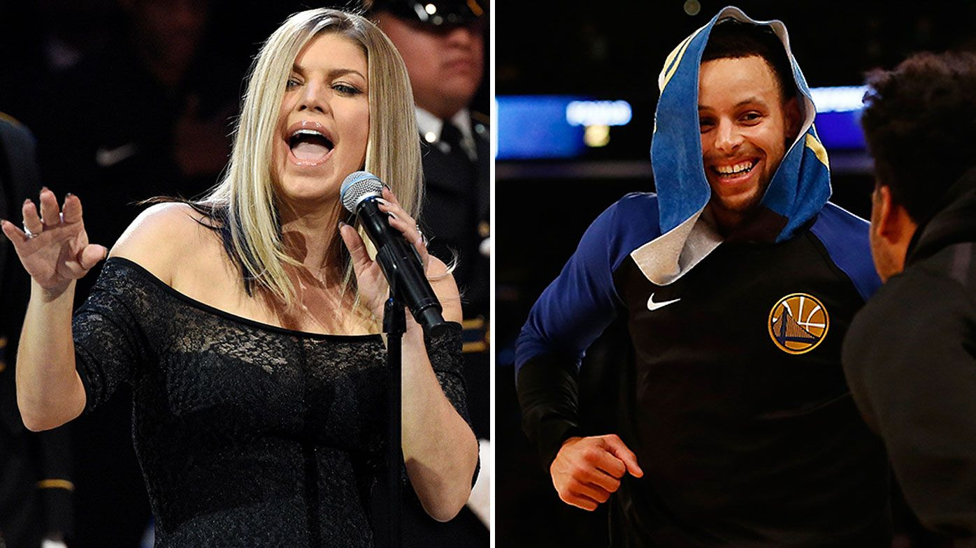 Golden State Warriors stars ruthlessly mock Fergie's bungled national anthem after getting called out