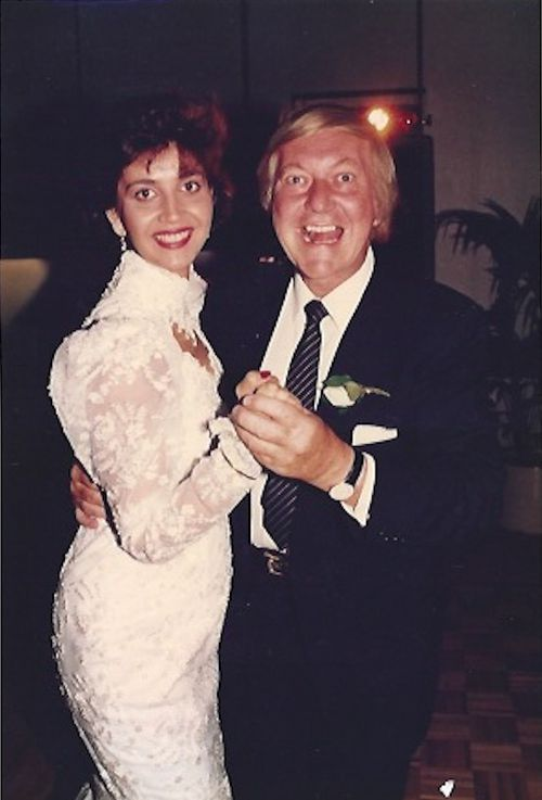 Shar Moore dancing with her stepfather on her wedding day at Grand Hyatt Hotel Melbourne in 1993. Picture: Supplied