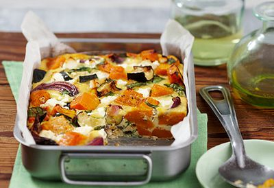 19. Pumpkin, spinach and feta slice