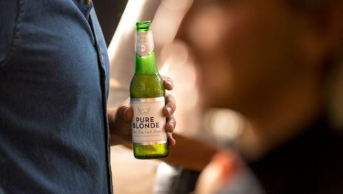 The research found a typical larger has 1.4 grams of carbohydrates per 100ml, while low-carb Pure Blonde has just over 0.5 grams.