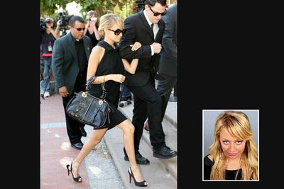 Paris's former BFF Nicole Richie spent even less time in jail - just 82 minutes. The adopted daughter of singer Lionel Richie and goddaughter of Michael Jackson was sentenced to four days but was released early due to overcrowding. Richie was caught with heroin in 2003, but it was a 2006 DUI charge that led to jail time. The socialite-come-fashion designer is a rehab success story: she has a successful career and two kids with Good Charlotte rocker Joel Madden.