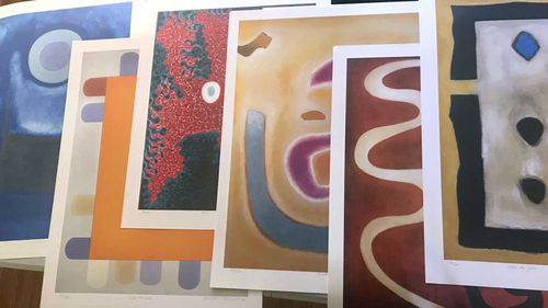 Stolen paintings from Scottish abstract expressionist Benjamin Creme.