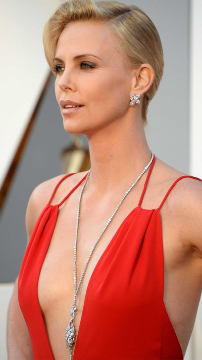 Charlize Theron in Harry Winston jewellery.