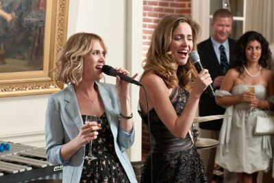 Examples: Kristen Wiig and Rose Byrne in <i>Bridesmaids</i>, Anna Faris in <i>What's Your Number</i>.
