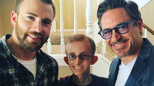 Avengers stars Robert Downey Jr, Chris Evans and Gwyneth Paltrow surprise super fan fighting leukaemia