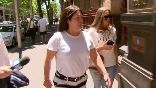Ms Williams outside court today.