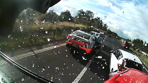 Horsley Park crash dashcam footage