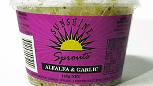 A range of sprouts, from Sunshine Sprouts, have been recalled after eight people contracted salmonella in the past month, the state's health organisation warned on Sunday.