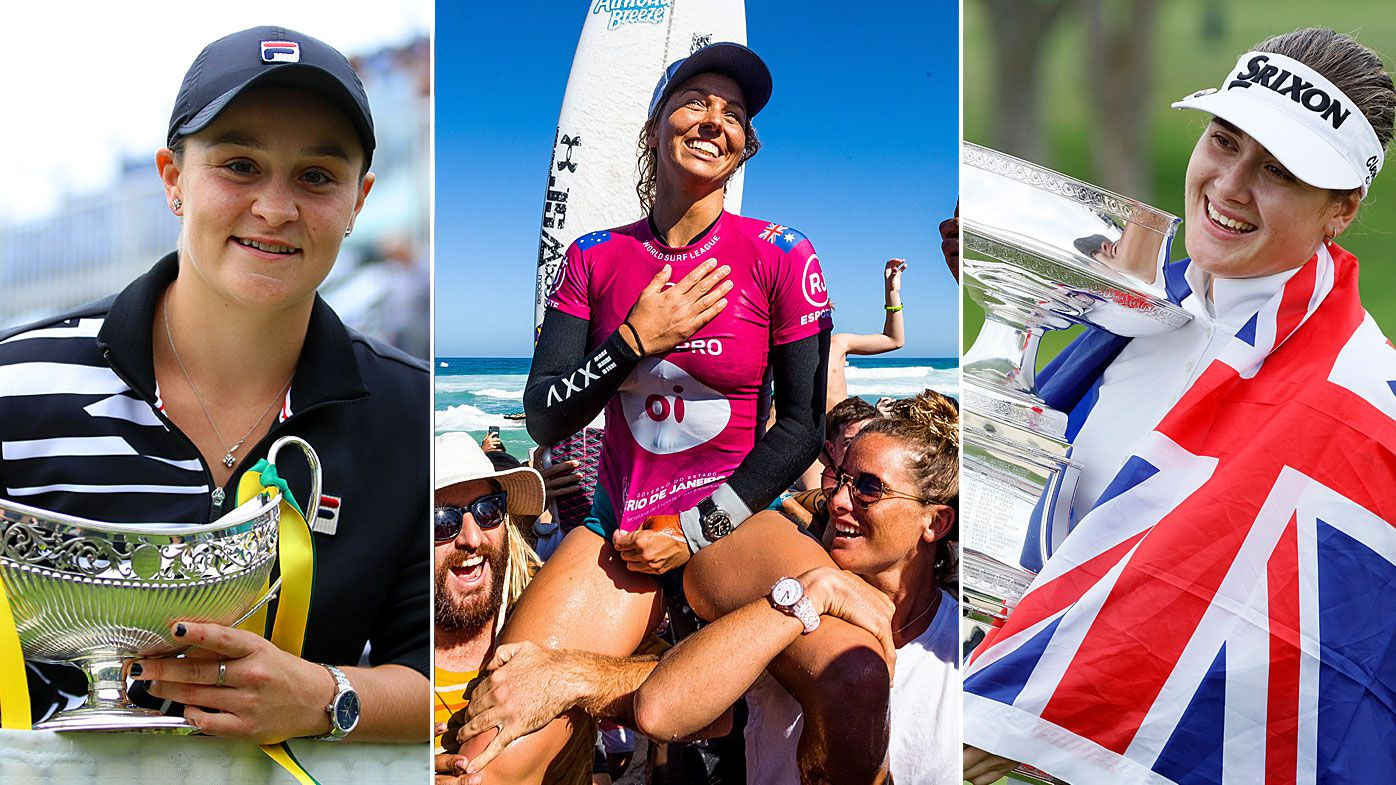 Barty, Fitzgibbons, Green have tipped off a stellar week for Aussie female athletes