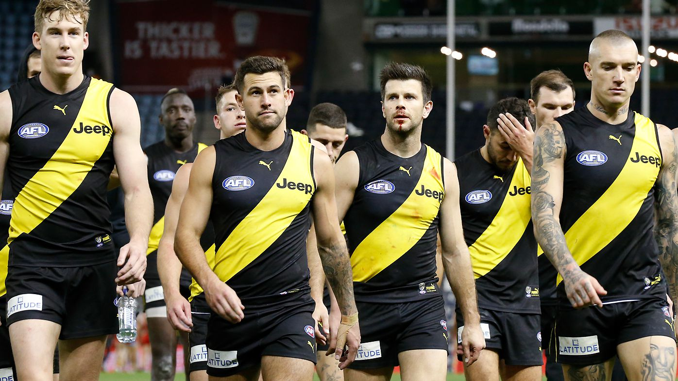 Richmond look dejected after losing to the Suns
