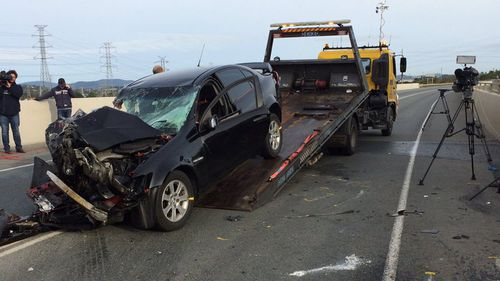 Driver in a stable condition after truck and car head-on crash north of Brisbane