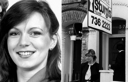 Suzy Lamplugh, left, and a police reconstruction of her 1986 disappearance.