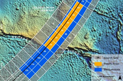 The underwater search area, June 2014. (ATSB)