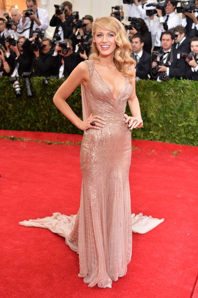 Blake Lively in Gucci at the 'Charles James: Beyond Fashion' Costume Institute Gala at the Metropolitan Museum of Art in New York, May, 2014