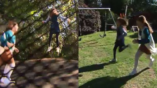 The twins can walk, run and play with no difficulties. (9NEWS)