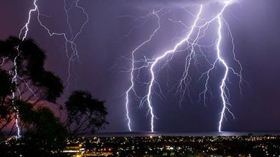Some have described it as the most incredible lightning Adelaide has ever seen. (Andrew Heslop)