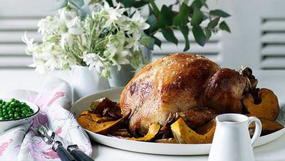 "<a href=""http://kitchen.nine.com.au/2016/05/16/19/44/classic-roast-turkey"" target=""_top"">Classic roast turkey with sage and lemon stuffing</a><br> <br> <a href=""http://kitchen.nine.com.au/2016/11/22/10/30/thanksgiving-recipes-turkey-pumpkin-pie-and-all-the-trimmings"" target=""_top"">More Thanksgiving recipes</a><br> <br>"