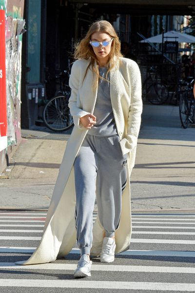 Gigi Hadid gets lunch at The Smile in East Village, New York this month.