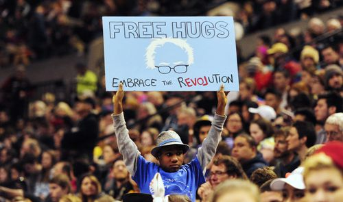 Devonte Hart was 11 years old when he held a sign that said 'Free Hugs'. (AAP)