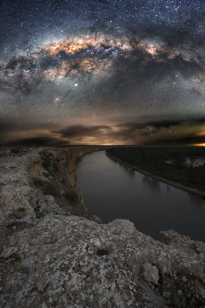 Milky Way over River Murray